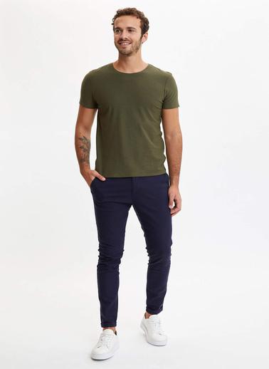 DeFacto Slim Fit T-Shirt Haki